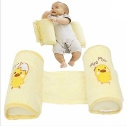 Baby Toddler Safe Cotton Anti Roll Pillow Sleep Head Positioner