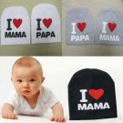 Baby Children Sweet Cotton Beanie I Love Mama Papa Hat