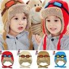 Children Toddlers Baby Aviator Cap Cool Warm Pilot Hat
