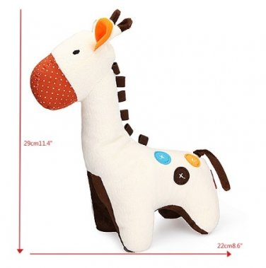 Baby Infant Kids Cute Animal Giraffe Bed Bell Ring Plush Doll Toy
