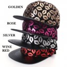 Unisex Lips Pattern Hats Hip Pop Baseball Cap Snapback Flat Peak