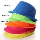 Lady Men Jazz Neon Panama Fedora Trilby Cowboy Cap Sun Beach Hat