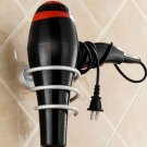 Aluminium Bathroom Wall-mounted Hair Dryer Storage Holder