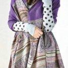 Bohemian Style Fringed Scarf Shawl
