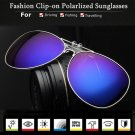 Polarized Sunglasses Clip Sun Glasses Driving Night Vision Lens