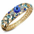 Crystal Enamel National Wind Bangle Bracelet