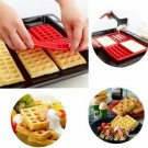 4-Cavity Mini Waffles Cake Chocolate Pan Silicone DIY Tray Mold Mould