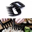 2pcs Black Bear Paw Tongs Pull Shred Meat Handle Transfer BBQ Tool