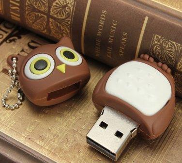 Bestrunner 2GB Cute Owl Shape USB2.0 Flash Drive Memory Mini U Disk