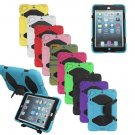 Silicon Rugged Military Duty Protector Case Cover For iPad Mini 2