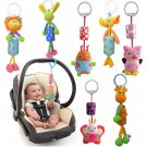 Infant Rattles Plush Animal Stroller Music Hanging Bell Toy Doll