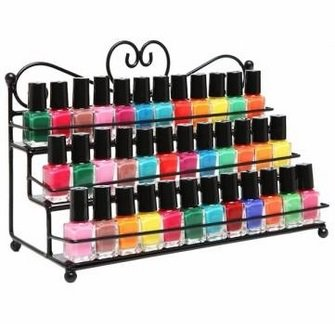 3 Tiers Nail Polish Stand Display Rack Cosmetic Makeup Organizer
