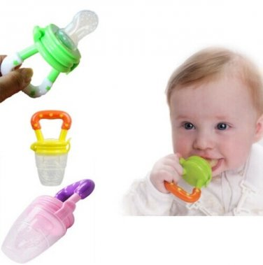 Baby Food Nibbler Fresh Fruit Infant Feeding Nibbler Chewing Silicon Tool