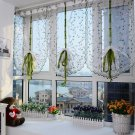 100x80cm Flower Sheer Curtain Tulle Window Door Liftting Curtain Blinds