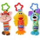 Baby Kids Soft Animal Handbells Rattles Bed Stroller Bells Developmental Toy