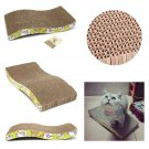 S-Shaped Pet Cat Comfort Scratch Scratcher Scratching Board