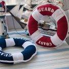 Fabric Lifebuoy Shape Back Cushion Home Office Soft Pillow