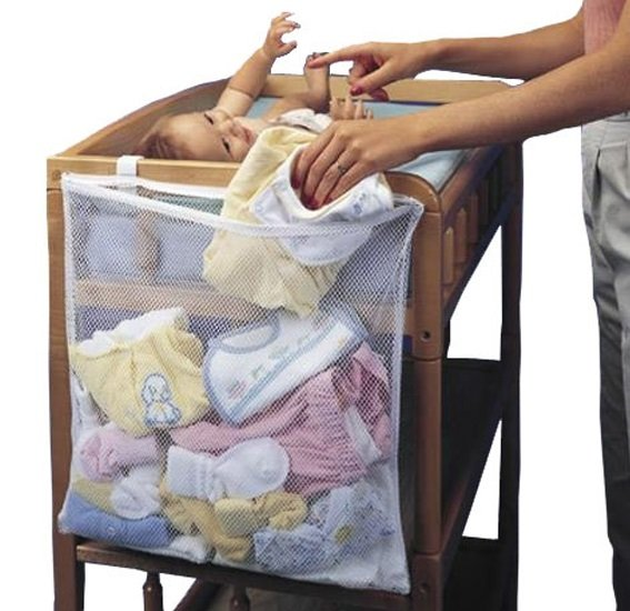 Infant Baby Dirty Clothes Diapers Hanging Storage Bag Organizer Holder For Cribs Bed