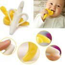 Soft Silicon Banana Bendable Baby Teether Training Toothbrush
