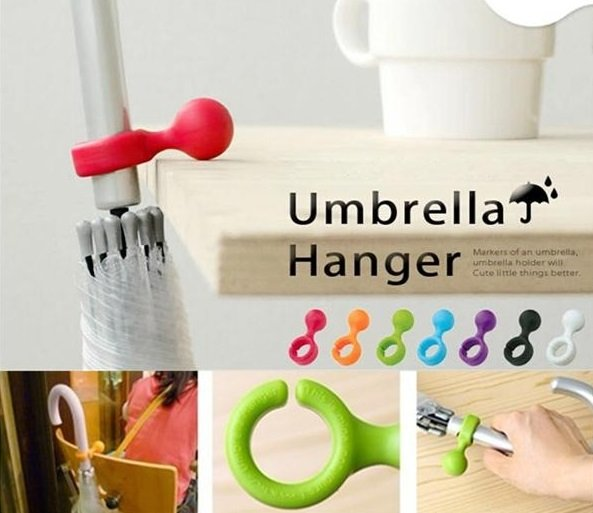 Plastic Handy Mini Umbrella Hanger Holder Stand Support Rack Mount Color Random