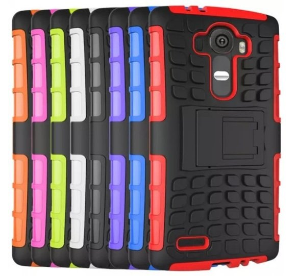 Spider Pattern TPU PC Stand Case Cover For LG G4
