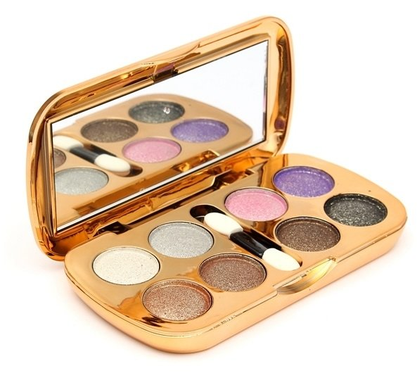 Glitter Eyeshadow Powder Makeup Palette Eye Shadow With Brush Mirror