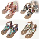 Womens Fashion Bohemian Beads Thong Toe