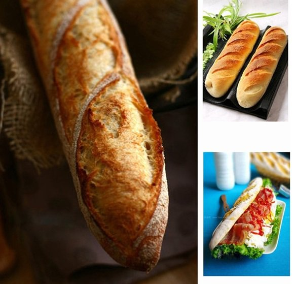 Non-stick French Bread Pan Mold Baguette Baking Mold
