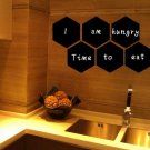 Removable Vinyl Blackboard Wall Sticker Office Home Decor Hexagon Shaped