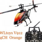 V912 Sky Dancer 4CH RC Helicopter With Gyro RTF Orange