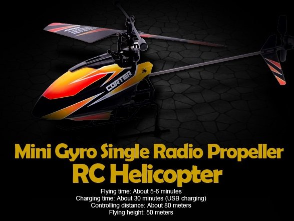 V911 2.4GHz 4CH Remote Control RC Helicopter with Gyro Mode 2