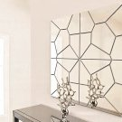 7Pcs 20cm DIY Geometry Mirror Wall Sticker Removable Pattern Mural Decal Art Home Decor
