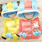 Baby Girl Warm Coats Children Jacket Kids Hooded Cartoon Winter Tops Costume