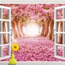 3D Window Sakura View Removable Wall Sticker Art Decal Mural Home Decor