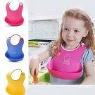 Baby Kid Silicone Lovely Cartoon Waterproof Soft Bib Feeding Shield Baby Care