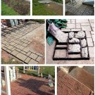 51cm Garden DIY Plastic Path Maker Model Road Paving Cement Mould Brick Stone Road