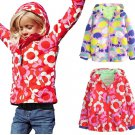 Baby Kid Girl Printed Long Sleeve Hoddy Coat Outerwear Jackets Aged 2-8Y