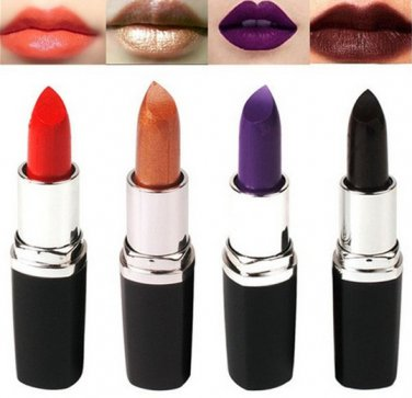 4 Colors Vampire Black Lipstick Exaggerated Color Lip Makeup Party