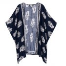 Women Casual Loose Thin Batwing Sleeve Boho Floral Cardigan Coat Jacket Beach Party