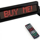 Mini 12V Car Scrolling Display Sign Light Remote Control Moving Stop Message Red