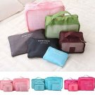 6Pcs Waterproof Travel Storage Bags Packing Cube Clothes Pouch Luggage Organizer