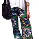 Ethinic Style High-Waisted Printed Loose-Fitting Pants