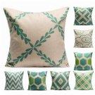Blue Variety Style Cotton Linen Pillow Cases Sofa Waist Throw Cushion Cover