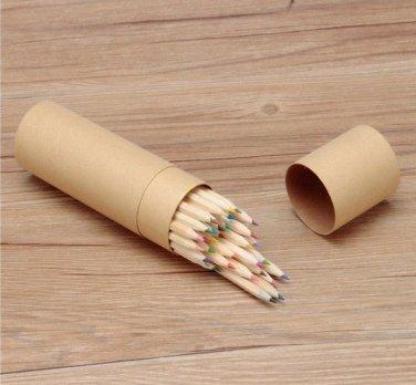 Natural 36 Colors Wooden Craft Paper Cartridge Colored Pencils Drawing Pencils
