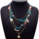 Pendant Multilayer Beads Statement Necklace