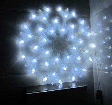 40 LED Colorful Snowflake Fairy Lights String Curtain Light Christmas Wedding Holiday Decor