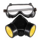 Double Gas Mask Protection Filter Chemical Gas Respirator Face Mask