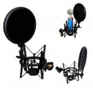 Microphone Mic Shock Mount Studio Stand Pop With Shield Filter Screen R1BO