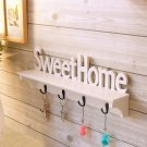"""Sweet Home"" Shelves Wall Rack Wood Home Holder Storage Hanger Decors"