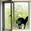 Halloween Scary Spooky Black Cat Wall Glass Sticker Halloween Decoration